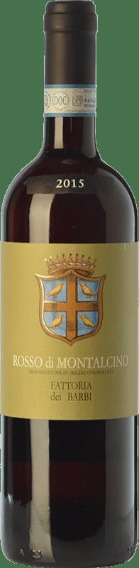 17,95 € Envío gratis | Vino tinto Fattoria dei Barbi D.O.C. Rosso di Montalcino Toscana Italia Sangiovese Botella 75 cl