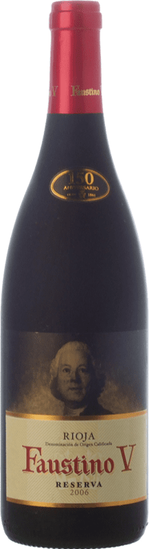 9,95 € Free Shipping | Red wine Faustino V Reserva D.O.Ca. Rioja The Rioja Spain Tempranillo, Mazuelo Bottle 75 cl