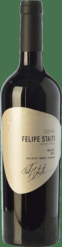 23,95 € Envoi gratuit | Vin rouge Felipe Staiti Euforia Reserva I.G. Valle de Uco Uco Valley Argentine Malbec Bouteille 75 cl