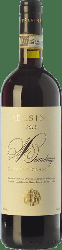 14,95 € Envío gratis | Vino tinto Fèlsina D.O.C.G. Chianti Classico Toscana Italia Sangiovese Botella 75 cl