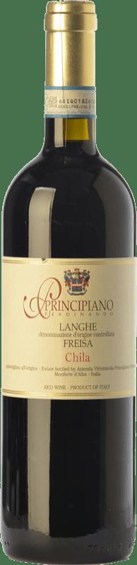 12,95 € Free Shipping | Red wine Ferdinando Principiano Chila D.O.C. Langhe Piemonte Italy Freisa Bottle 75 cl