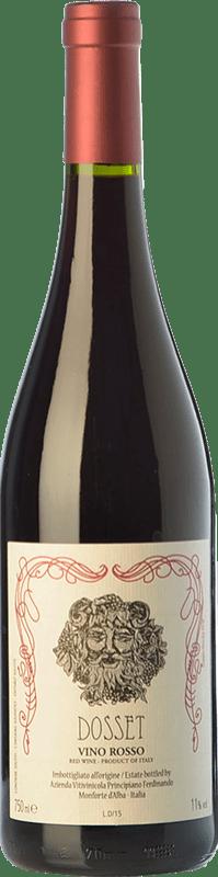 14,95 € Free Shipping | Red wine Ferdinando Principiano Dosset D.O.C. Langhe Piemonte Italy Dolcetto Bottle 75 cl