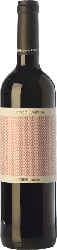 9,95 € Free Shipping | Red wine Ferré i Catasús Dimoni Vermell Joven D.O. Terra Alta Catalonia Spain Tempranillo, Syrah, Grenache, Carignan Bottle 75 cl