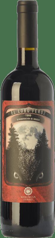 9,95 € 免费送货 | 红酒 Ferré i Catasús El Lobo Feroz Joven D.O. Toro 卡斯蒂利亚莱昂 西班牙 Tinta de Toro 瓶子 75 cl