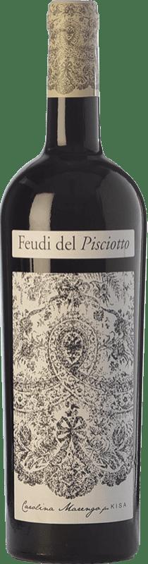 15,95 € Free Shipping | Red wine Feudi del Pisciotto Kisa I.G.T. Terre Siciliane Sicily Italy Frappato Bottle 75 cl