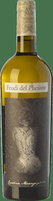 14,95 € Free Shipping | White wine Feudi del Pisciotto Kisa I.G.T. Terre Siciliane Sicily Italy Grillo Bottle 75 cl