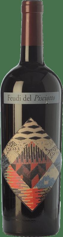 16,95 € Free Shipping | Red wine Feudi del Pisciotto Cabernet Missoni I.G.T. Terre Siciliane Sicily Italy Cabernet Sauvignon Bottle 75 cl
