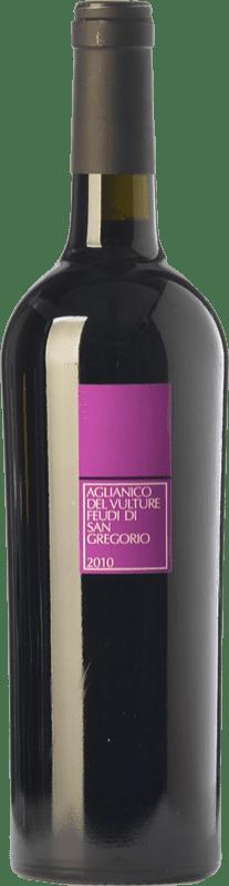 15,95 € Envío gratis | Vino tinto Feudi di San Gregorio D.O.C. Aglianico del Vulture Basilicata Italia Aglianico Botella 75 cl