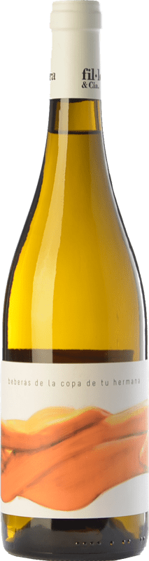 16,95 € Free Shipping | White wine Fil'loxera Beberás de la Copa de tu Hermana Crianza D.O. Valencia Valencian Community Spain Monastrell, Macabeo, Subirat Parent Bottle 75 cl