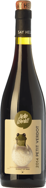 5,95 € 免费送货 | 红酒 Finca La Estacada Hello World Joven I.G.P. Vino de la Tierra de Castilla 卡斯蒂利亚 - 拉曼恰 西班牙 Petit Verdot 瓶子 75 cl