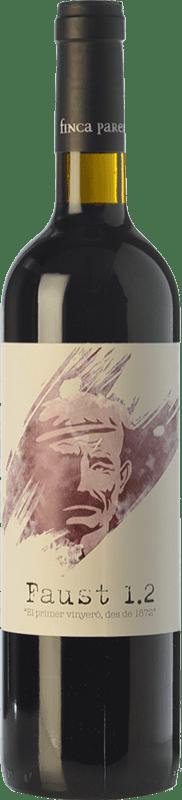 17,95 € | Red wine Finca Parera Faust 1.2 Crianza D.O. Penedès Catalonia Spain Tempranillo, Merlot, Cabernet Sauvignon, Grenache Tintorera Bottle 75 cl