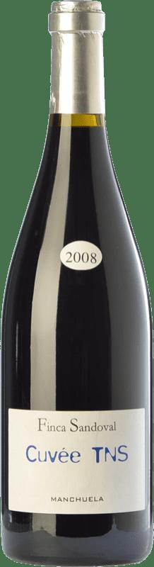 29,95 € Free Shipping | Red wine Finca Sandoval Cuvée TNS Crianza D.O. Manchuela Castilla la Mancha Spain Syrah, Touriga Nacional Bottle 75 cl