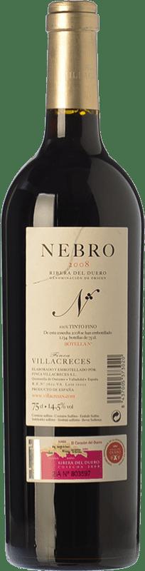 141,95 € Free Shipping   Red wine Finca Villacreces Nebro Crianza D.O. Ribera del Duero Castilla y León Spain Tempranillo, Merlot, Cabernet Sauvignon Bottle 75 cl