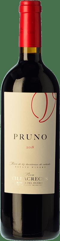 Free Shipping | Red wine Finca Villacreces Pruno Crianza 2016 D.O. Ribera del Duero Castilla y León Spain Tempranillo, Cabernet Sauvignon Bottle 75 cl