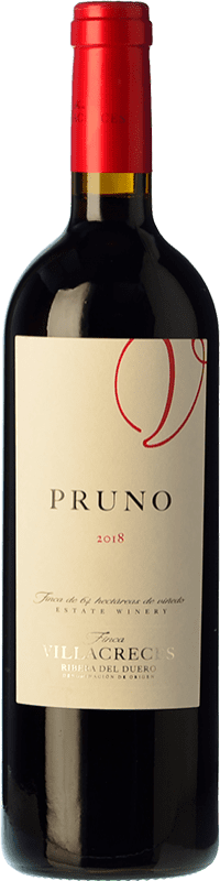 9,95 € Envoi gratuit | Vin rouge Finca Villacreces Pruno Crianza D.O. Ribera del Duero Castille et Leon Espagne Tempranillo, Cabernet Sauvignon Bouteille 75 cl