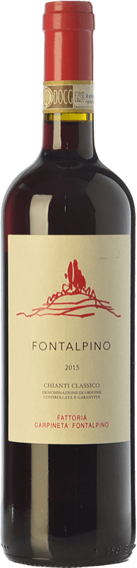 18,95 € Free Shipping | Red wine Fontalpino D.O.C.G. Chianti Classico Tuscany Italy Sangiovese Bottle 75 cl