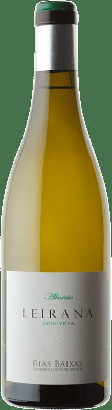 18,95 € Envoi gratuit | Vin blanc Forjas del Salnés Leirana Finca Genoveva Crianza D.O. Rías Baixas Galice Espagne Albariño Bouteille 75 cl