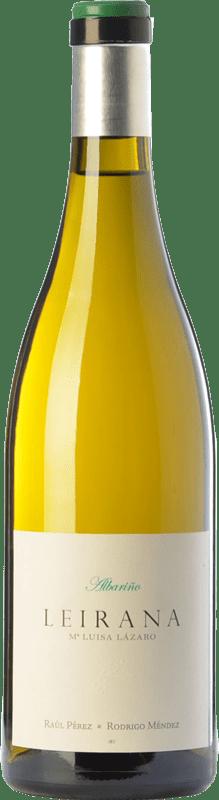 35,95 € Envío gratis | Vino blanco Forjas del Salnés Leirana Ma. Luisa Lázaro D.O. Rías Baixas Galicia España Albariño Botella 75 cl
