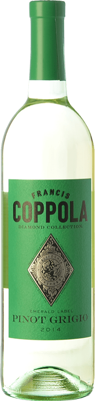 23,95 € Free Shipping | White wine Francis Ford Coppola Diamond Pinot Grigio I.G. California California United States Sauvignon White, Pinot Grey Bottle 75 cl