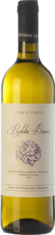 9,95 € Free Shipping | White wine Frank & Serafico Bianco di Redola D.O.C. Maremma Toscana Tuscany Italy Sauvignon White, Fiano, Vermentino Bottle 75 cl