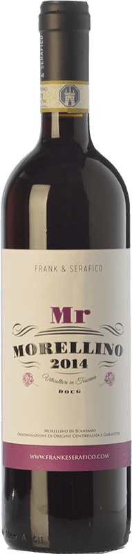 9,95 € Free Shipping | Red wine Frank & Serafico Mr D.O.C.G. Morellino di Scansano Tuscany Italy Sangiovese Bottle 75 cl