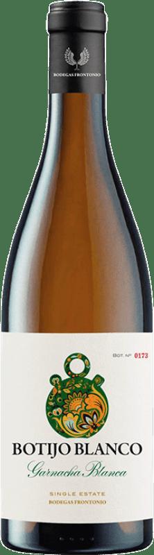 11,95 € Envío gratis | Vino blanco Frontonio Botijo Garnacha Blanca I.G.P. Vino de la Tierra de Valdejalón Aragón España Garnacha Blanca, Macabeo Botella 75 cl
