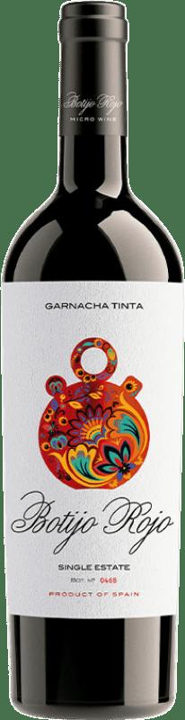 11,95 € 免费送货 | 红酒 Frontonio Botijo Rojo Crianza I.G.P. Vino de la Tierra de Valdejalón 阿拉贡 西班牙 Grenache 瓶子 75 cl