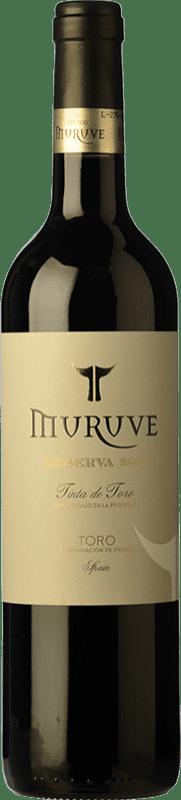 14,95 € Envío gratis | Vino tinto Frutos Villar Muruve Reserva D.O. Toro Castilla y León España Tinta de Toro Botella 75 cl