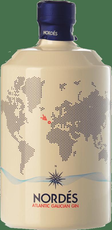 32,95 € Envío gratis | Ginebra Atlantic Galician Gin Nordés España Botella 70 cl