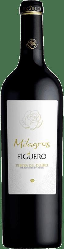 39,95 € Envío gratis | Vino tinto Figuero Milagros Crianza D.O. Ribera del Duero Castilla y León España Tempranillo Botella 75 cl