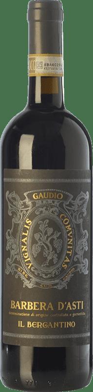 22,95 € Free Shipping | Red wine Gaudio il Bergantino D.O.C. Barbera d'Asti Piemonte Italy Barbera Bottle 75 cl
