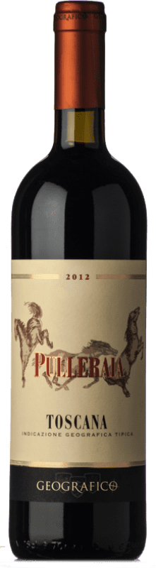 26,95 € | Red wine Geografico Pulleraia I.G.T. Toscana Tuscany Italy Merlot Bottle 75 cl