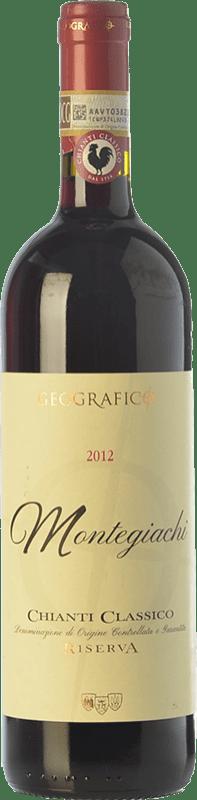 19,95 € | Red wine Geografico Riserva Montegiachi Reserva D.O.C.G. Chianti Classico Tuscany Italy Sangiovese, Colorino Bottle 75 cl