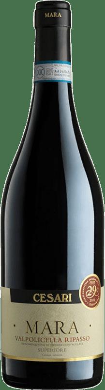 17,95 € Free Shipping | Red wine Cesari Superiore Mara D.O.C. Valpolicella Ripasso Veneto Italy Corvina, Rondinella, Molinara Bottle 75 cl