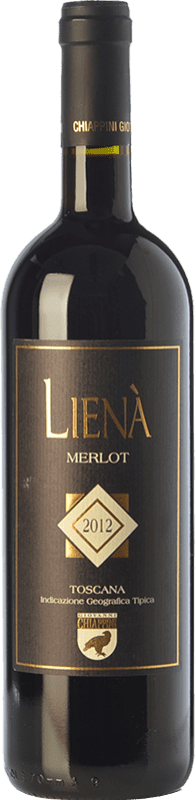 59,95 € Free Shipping | Red wine Chiappini Lienà I.G.T. Toscana Tuscany Italy Merlot Bottle 75 cl