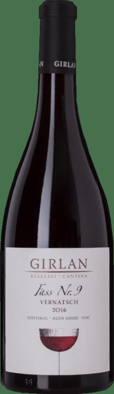 13,95 € 免费送货 | 红酒 Girlan Fass 9 D.O.C. Alto Adige 特伦蒂诺 - 上阿迪杰 意大利 Schiava 瓶子 75 cl