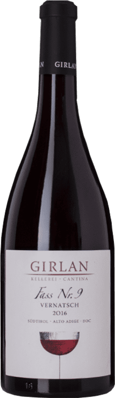 13,95 € Free Shipping | Red wine Girlan Fass 9 D.O.C. Alto Adige Trentino-Alto Adige Italy Schiava Bottle 75 cl