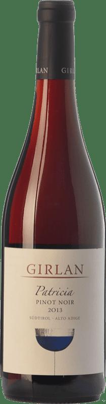 18,95 € Envío gratis | Vino tinto Girlan Pinot Nero Patricia D.O.C. Alto Adige Trentino-Alto Adige Italia Pinot Negro Botella 75 cl