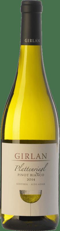 14,95 € Free Shipping | White wine Girlan Pinot Bianco Plattenriegl D.O.C. Alto Adige Trentino-Alto Adige Italy Pinot White Bottle 75 cl