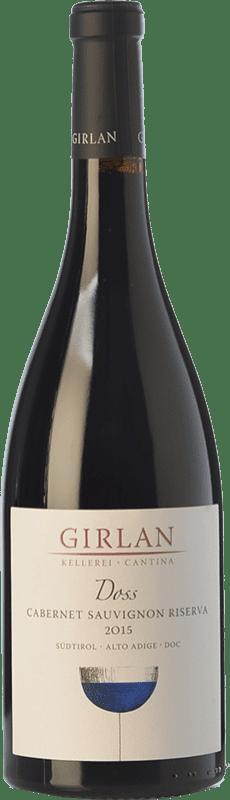 14,95 € Envío gratis | Vino tinto Girlan Riserva Doss Reserva D.O.C. Alto Adige Trentino-Alto Adige Italia Cabernet Sauvignon Botella 75 cl