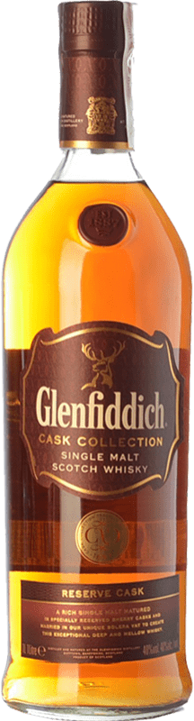 78,95 € Free Shipping | Whisky Single Malt Glenfiddich Reserve Cask Speyside United Kingdom Missile Bottle 1 L