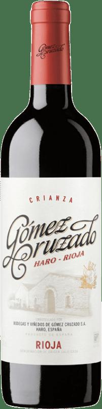 13,95 € 免费送货 | 红酒 Gómez Cruzado Crianza D.O.Ca. Rioja 拉里奥哈 西班牙 Tempranillo, Grenache 瓶子 75 cl