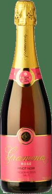 22,95 € Envío gratis | Espumoso rosado Gramona Rosat Brut Reserva D.O. Cava Cataluña España Pinot Negro Botella 75 cl