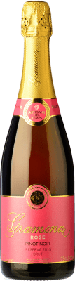 22,95 € | Rosé moussant Gramona Rosat Brut Reserva D.O. Cava Catalogne Espagne Pinot Noir Bouteille 75 cl