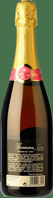 22,95 € | Rosé sparkling Gramona Rosat Brut Reserva D.O. Cava Catalonia Spain Pinot Black Bottle 75 cl