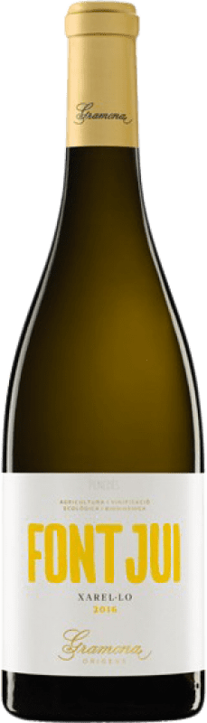 13,95 € Free Shipping | White wine Gramona Font Jui Crianza D.O. Penedès Catalonia Spain Xarel·lo Bottle 75 cl