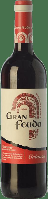 4,95 € Envoi gratuit | Vin rouge Gran Feudo Crianza D.O. Navarra Navarre Espagne Tempranillo, Grenache, Cabernet Sauvignon Bouteille 75 cl