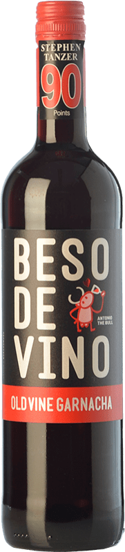 5,95 € 免费送货 | 红酒 Grandes Vinos Beso de Vino Old Vine Joven D.O. Cariñena 阿拉贡 西班牙 Grenache 瓶子 75 cl