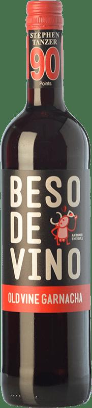 5,95 € | Red wine Grandes Vinos Beso de Vino Old Vine Joven D.O. Cariñena Aragon Spain Grenache Bottle 75 cl