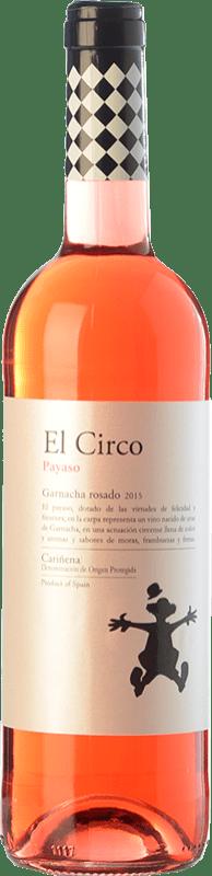 4,95 € Envío gratis | Vino rosado Grandes Vinos El Circo Payaso Joven D.O. Cariñena Aragón España Garnacha Botella 75 cl
